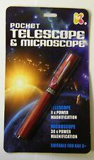 Espacio de bolsillo Telescopio Microscopio Nuevo