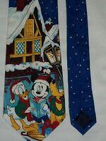 Mickey Caroling Disney Christmas Men's Tie Novelty Necktie Balanche Donald Pluto