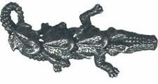 4 wholesale pewter alligator & 3 frogs figurines E5052