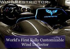 Wind screen Wind Deflector Chevrolet Corvette C6 LOGO design Blue Light blocker