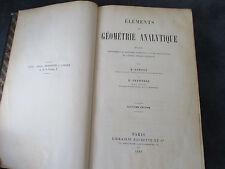 Eléments de Géométrie Analytique par H. SONNET et G. FRONTERA 7ème édition 1889