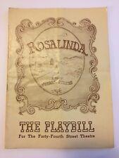 1943 Playbill Rosalinda (Die Fledermaus) Max Reinhardt Production Johann Strauss