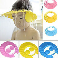 Adjustable Safe Shampoo Shower Bath Soft Cap Hat Protect for Baby Kids Children