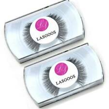 Multi Used 2 X 100% Mink No-Glue Natural False Eyelashes Cute Eye Lashes#001