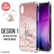 PERSONALISED PHONE CASE INITIALS NAME MARBLE COVER FOR APPLE IPHONE 13 XR 11 SE