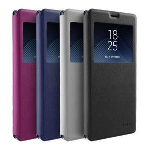 Flip Case Samsung Note 8 Magnet Fenster Cover Aufstellbar Ständer Hülle Etui