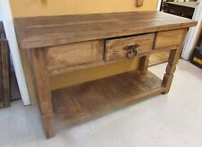 Rustic Pine Sofa Table-Mexican-60Lx21Dx35H-Furniture-Credenza-Handmade
