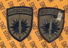 USA Special Operations Command Pacific Airborne SOCPAC OD Green Black patch m/e