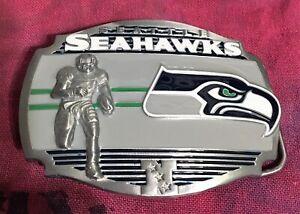 SEATTLE SEAHAWKS PLAYER BELT BUCKLE NFL BUCKLES NEW