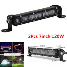 2x 7In 120W LED Work Light Bar Flood Beam Pods Driving Off-Road Tractor 4WD 12V