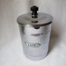 Chrom-Vorratsdose Vorratsgefäss Art Deco Cafe Kaffeedose France Marque Deposee