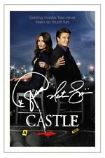 NATHAN FILLION  & STANA KATIC CASTLE AUTOGRAPH SIGNED PHOTO PRINT