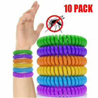 Pack of 10 Anti Mosquito Insect Repellent Wrist Hair Band Bracelet Camp Outdoor