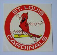 Old Vintage 1970s St. Louis Cardinals MLB Baseball Decal Sticker Old Logo