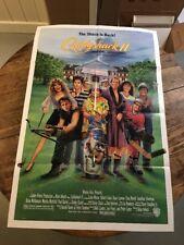 CADDYSHACK 2 1988 ORIGINAL 27x41 MOVIE POSTER! JACKIE MASON GOLF COMEDY SEQUEL!