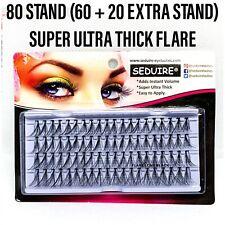 Ultra Thick 80 Stand Individual Cluster Corner Lashes False/Fake Flare Eyelashes