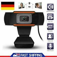 HD WebCam Kamera Autofokus mit Mikrofon Drehbar 1080P WebCam USB 3.0 für PC