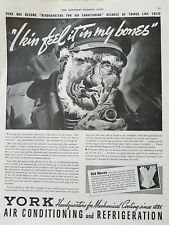 1936 York air conditioning Refrigeration grandfather Robbins rheumatism ad