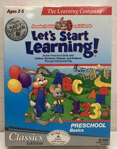 New Sealed Reader Rabbit Lets Start Learning Preschool Basics PC Win/Mac