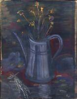 """Russischer Realist Expressionist Öl Leinwand """"Strauß"""" 66 x 52 cm"""