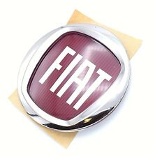 Replacement Fiat Red Alloy wheel centre cap & Wheel trim badge 50mm Genuine