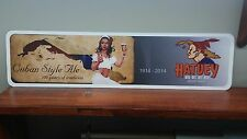 "Hatuey Cuban Ale 100th Anniversary Aluminum Sign 6"" x 24"""