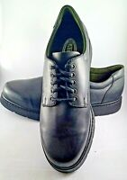 Mens Slatters Black Premier Leather Comfort Smart Non Slip shoes Size 9