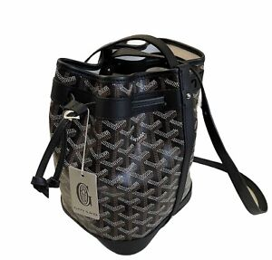 GOYARD Goyardine Petit Flot Bucket Bag PM Black RARE