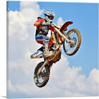 ARTCANVAS Dirt Bike Jump Motocross Air Canvas Art Print