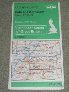 Ordnance Survey Pathfinder map sheet ST 66/76 Bath & Keynsham 1976 edition