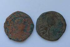 More details for 2 ancient byzantine bronze coins anastasius i dicorus /491-518 ad/ 40 nummi