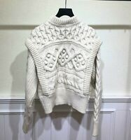 2020 Womens Designer Inspired 70% Wool Cable Vintage Pattern Knitwear Jumper