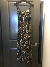 NWT KARDASHIAN KOLLECTION Vintage Tiger Animal Print Bustier Maxi Dress $99.00