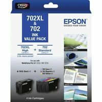 EPSON 702XL & 702 4-Ink Cartridges Value Pack AU Stock Fast Shipping