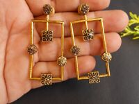Ethnic Handmade Brass Golden Oxidized Craft Tribal Dangle Earring