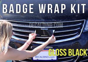 Black Car Emblem Wrap - For Chevy Camaro BowTie Vinyl Badge Decal Cruze Sonic