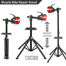 Adjustable Folding Bicycle Cycle Bike Maintenance Repair Work Stand Rack Red UK