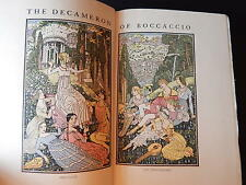 THE DECAMERON OF BOCCACCIO VG+ 10 Color Plates Double Frontis Thom. Derrick 1920