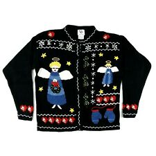 Ugly Christmas Sweater Cardigan Angels Womens Size Small