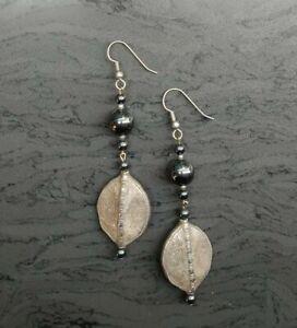 Black Dangley Earrings (Blk138)