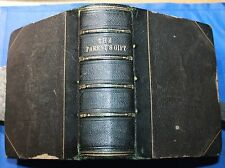 THE PARENT'S GIFT 1843 SUSAN JEWETT half leather 84 engraved illustrations book