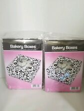 Bakery Box w/ Window+Insert for Cupcake/Muffin | Pastries |Black & White | 6cts