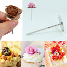 Stainless Steel Ice Cream Cake Decorating Flower Nail Tool Cake Flower Needle