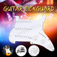 Guitar Loaded Pickguard 3 Ply 11 Hole For Fender Strat Stratocaster SSS White