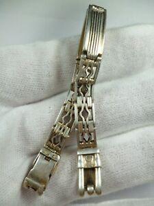 Bracelet Strap Zvezda Kirovskie Silver 875 Wristwatch USSR Rare Soviet Vintage