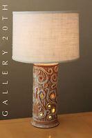 GREEK MID CENTURY MODERN PORCELAIN LAMP! 50S DALI VTG LIGHT UP BASE RAYMOR RETRO