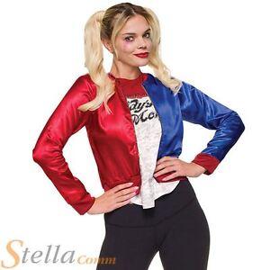 Harley Quinn Costume Kit Suicide Squad Jacket Villain Ladies Fancy Dress