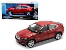 WELLY 1:24 W/B BMW X6 SUV Diecast Car Model Red Color