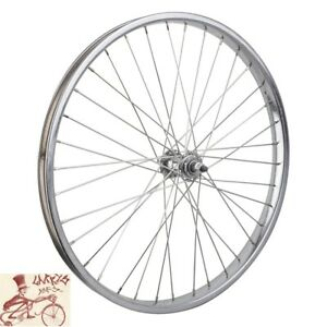 "WHEEL MASTER 24"" x 2.125""  STEEL CHROME BICYCLE FRONT WHEEL"