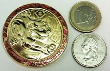 ☆ Year of the Tiger Geocoin Gold Chinese Zodiac Unactivated